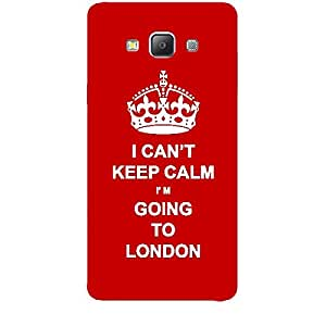 Skin4gadgets I CAN'T KEEP CALM I'm GOING TO LONDON - Colour - Red Phone Skin for SAMSUNG GALAXY A7 (A700)