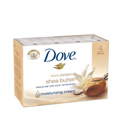 Dove Beauty Bar, Shea Butter 4 ounce (1/4 moisturizing cream)