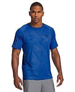 Under Armour Herren Top UA Tech Novelty Short Sleeve, Scatter, XXL, 1236401-406