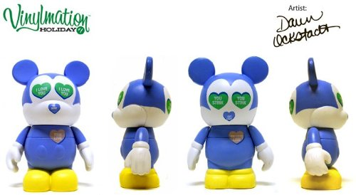 "Message Hearts (Chaser) by Dawn Ockstadt - Disney Vinylmation ~3"" Holiday Series #1 Chaser - Designer Figure (Disney Theme Parks Exclusive)"