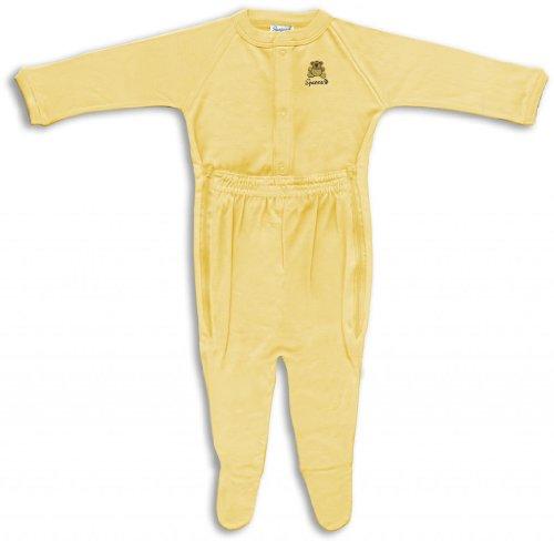 Spencer'S Wee Bear Zip Leg Sleeper-Yellow-L front-147966