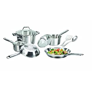 T-fal C878SA64 Elegance Stainless Steel 10-Piece Cookware Set