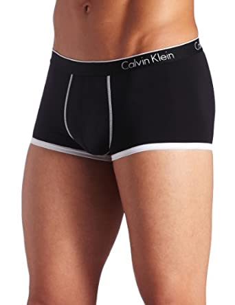 ck one Men's Micro Low Rise Trunk, Black, Large