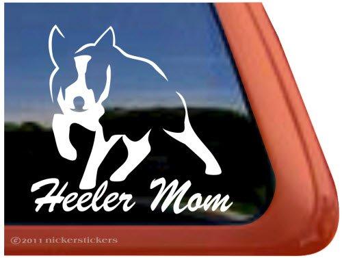 Heeler Mom ~ High Quality Australian Cattle Dog Vinyl Window Decal front-184016