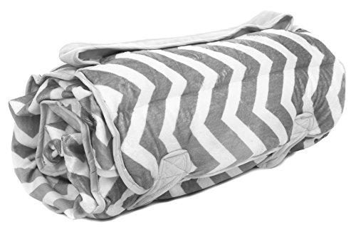 Ozark Mountain Kids Gray Chevron Minky Nap Mat - 1