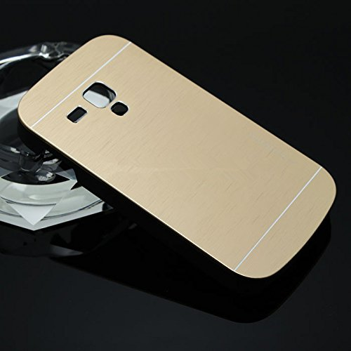 Motomo Premium Brushed Full Metal Protective Hard Back Case Cover For Samsung Galaxy S3 Mini - Gold  available at amazon for Rs.249