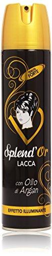 Splend'Or - Lacca con Olio di Argan, Tenuta Forte, Effetto Illuminante - 400 ml