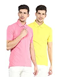 Yellow Submarine Men'S Pack Of 2 Cotton Polo T-Shirt With Collar - B010AOIJYE