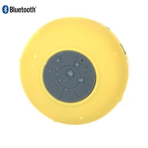 Oisound Waterproof Bluetooth Wireless Shower Speaker & Speakerphone For Iphone,Ipad,Atv, Baths, Swimming Pools, Boats,Jeep (Yellow)