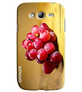 Omnam Red Grapes Fruit Printed Designer Back Cover Case For Samsung Galaxy Grand