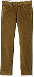 US Polo Boys Trousers (UKTR5188_Khaki_S)