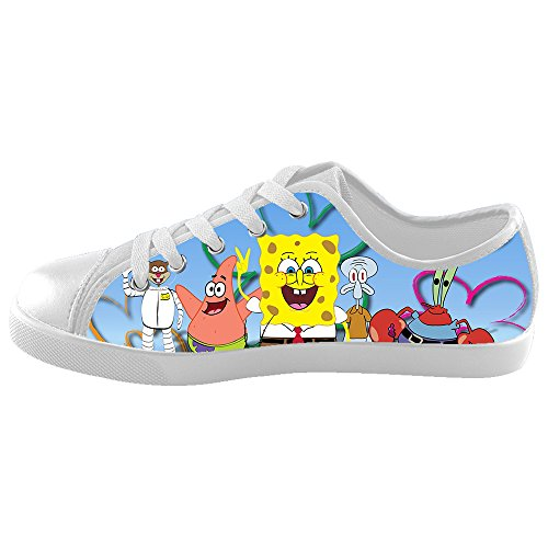 [TD^^MM Custom Cartoon SpongeBob Canvas Kid's Shoes] (Buffalo Bob Costume)