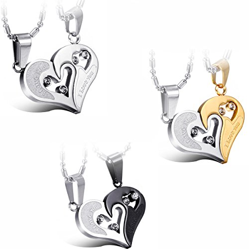 JewelryWe-Valentine-Day-Gifts-2pcs-His-and-Hers-Matching-Stainless-Steel-I-Love-You-Heart-Pendant-Necklace-Set-for-Couple-Colors-Selectable