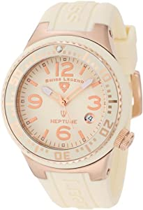 Swiss Legend Women's 11044P-RG-16 Neptune Beige Dial Beige Silicone Watch