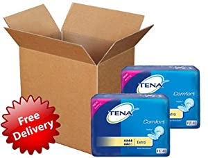 Tena Comfort Extra Superdry Shaped Pads Bulk Buy Carton 84 2 X 42 by tena