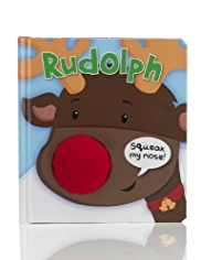 Rudolph Santa Squeak My Nose Book