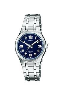 Casio Casio Collection - Reloj analógico de mujer de cuarzo con correa de acero inoxidable plateada (luz) - sumergible a 50 metros marca Casio