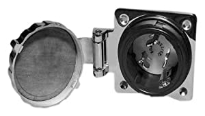 Buy Marinco 6373ELMB Marine Electrical Inlet Replacement Interior (Fits 50-Amp 125 250-Volt Easy Lock 4-Wire Stainless Steel... by Marinco
