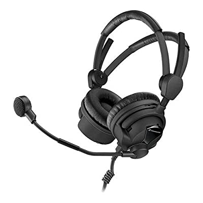Sennheiser HMD26-II-600-8 Broadcast Headset, 600 Ohm Impedance, ActiveGard, Dynamic Microphone