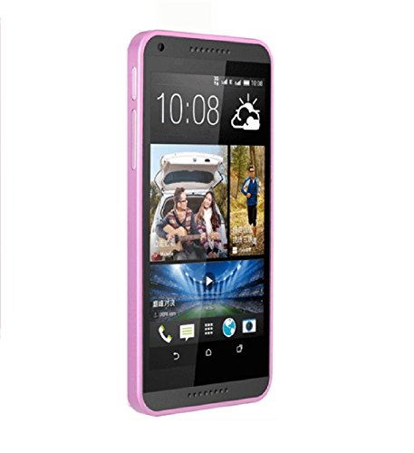 Exclusive Aluminium Metal With Screwless Bumper Frame Case Cover For HTC Desire 816 / 816G - Pink