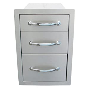 Sunstone Grills Sunstone Grills 14 In. Flush Triple Access Drawer from Texas BBQ Wholesalers
