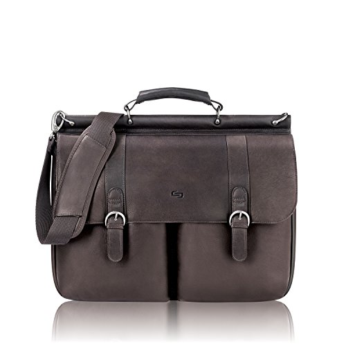 SOLO D5353 - Leather Laptop Portfolio, Leather, 16-1/2 x 5 x