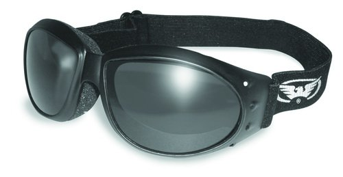 Global Vision Eyewear ELIMINATOR GOGGLES MOTORCYCLE PADDED EYEWEAR SMOKED TINT LENSES These Are Specially Made to Keep Dust And Wind Out Of Your Eyes