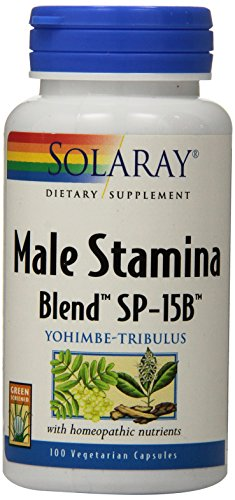 Solaray Male Stamina Blend SP-15B Capsules, 100 Count
