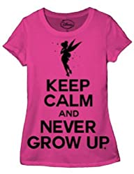 Disney Peterpan Keep Calm Tinkerbell Juniors T-shirt