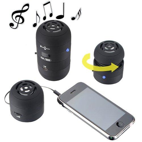 3.5Mm Black/Red Mini Hamburger Bass Speakers For Ipod Iphone Laptop Pc Mac
