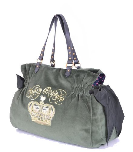 Juicy Couture Velour Sequin Crown Lg Daydreamer Tote Baby Bag, Green from Juicy Couture