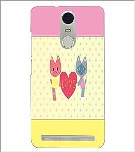 PrintDhaba Love D-1407 Back Case Cover for LENOVO K5 NOTE (Multi-Coloured)