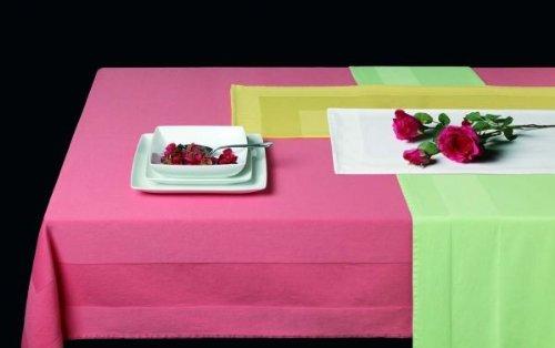 Damast-Tischdecke, Tafeldecke mit Atlaskante, 100x100 cm, weiss, 100% Baumwolle