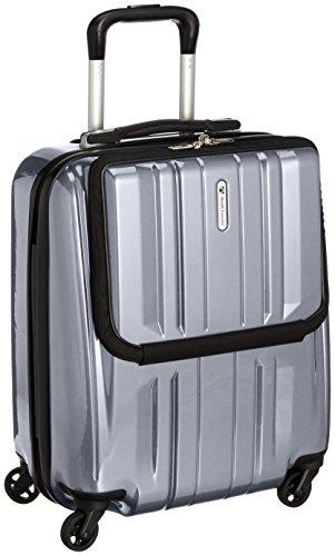 [ワールドトラベラー] World Traveler アマゾン限定 ACEコラボ特別企画 ペンタクォーク ストッパー付スーツケース46cm・32リットル・TSAロック搭載・機内持ち込みサイズ 05661 09 (シルバー)