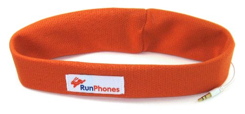 Headphones For Runners (Rs1Ol) Runphones Summer Orange Extra Large