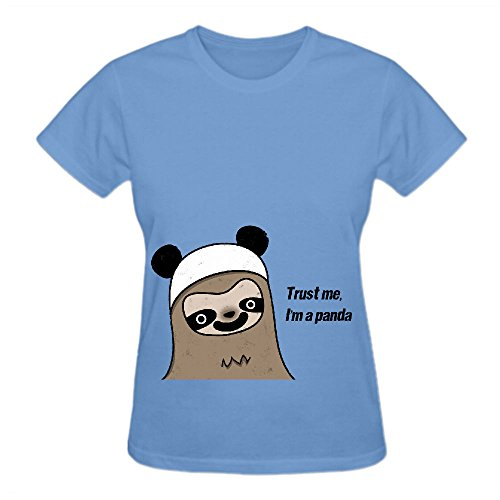 sloth-says-dont-worry-im-a-panda-crew-neck-shirt-women-blue