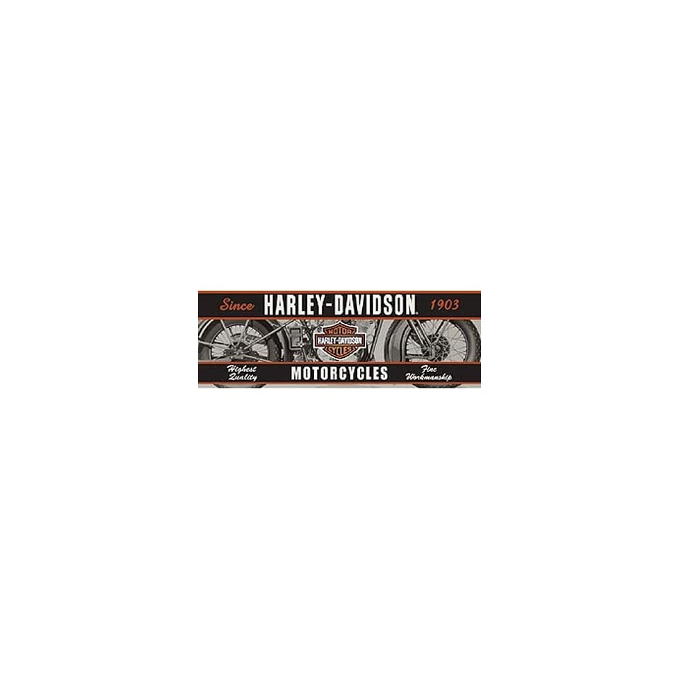 Glasscapes 60007 Harley Davidson Vintage Motorcycle Window Graphic Decal