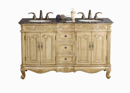 Cheap Price Virtu Usa Ld 1020bb Tarragona 58 Inch Double Sink Bathroom Vanity
