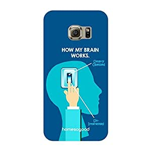 HomeSoGood How My Brain Works Multicolor 3D Mobile Case For Samsung S6 Edge (Back Cover)