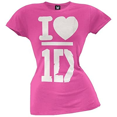 One Direction Pink Heart Girls T-Shirt Size : Medium