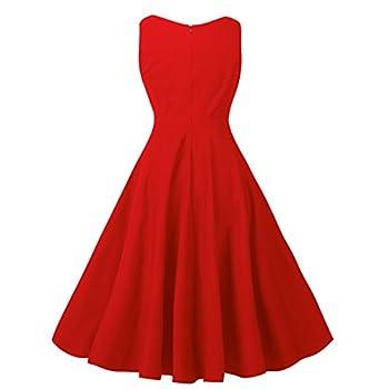 NINEWE Women's Classy Audrey Hepburn 1950s Vintage Rockabilly Swing Dress