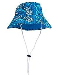 Tuga Boys Bucket Hat (UPF 50+), Tiki Cobalt, Large