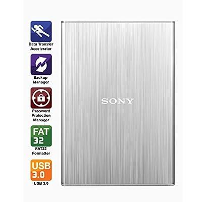 Sony HD-SL2 2TB External Slim Hard Disk (Silver)
