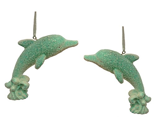 St. Nicholas Square Seas and Greetings Dolphin Ornament – Set of 2