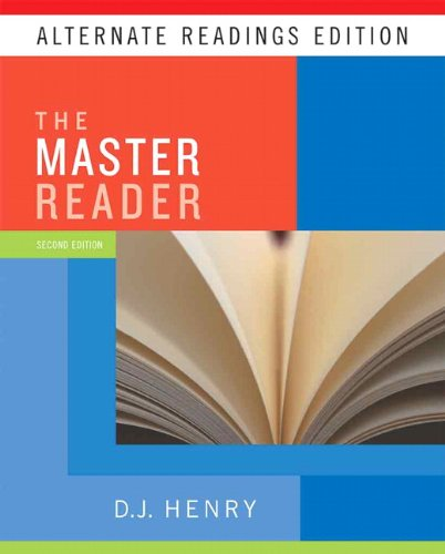 Master Reader, The, Alternate Reading Edition (with MyReadingLab Student Access Code Card) (2nd Edition)