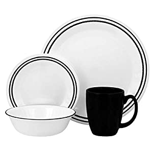Corelle Livingware Brilliant Black Beads, 16-Piece