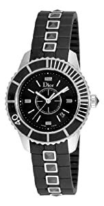 Christian Dior Women's CD11311FR001 Christal Black Sapphire Dial Watch from Christian Dior