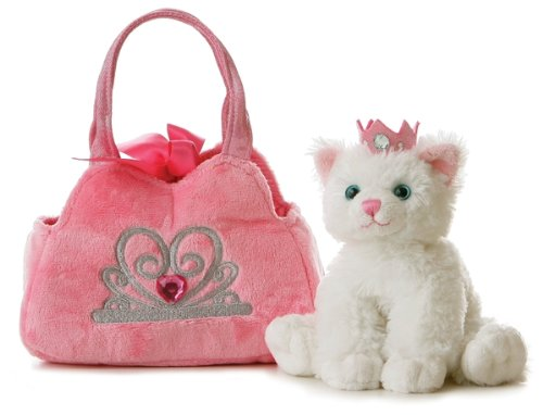 Aurora Plush Fancy Pals Pet Carrier Princess Kitten - 1