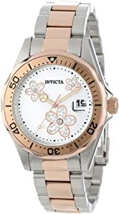 Invicta Women's 12507 Pro Diver Silver Dial Crystal Accented Two Tone Stainless Steel Watch