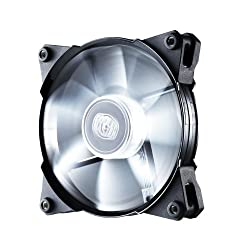 Cooler Master JetFlo 120 - High Performance 120 mm Computer Case Fan with Long-Lasting POM Bearing (White LED)